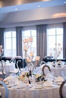 Winter Wedding or Christmas Event Table Centre pieces Rentals