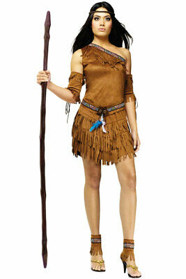 Brand New Pow Wow Pocahontas Native American Indian Princess Adult Costume (Pocahontas Adult Costumes)