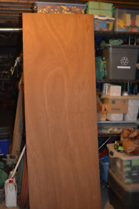 """8 sheets of Teak Plywood 84"""" by 30"""" by 1/8"""" thick G1S"""