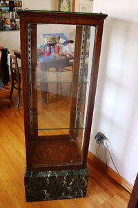 WAHL EVERSHARP THE NAME IS ON THE PENCIL  OAK DISPLAY CABINET
