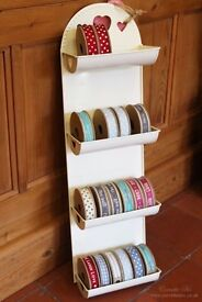 Shabby Chic Style Cream Metal Ribbon Holder