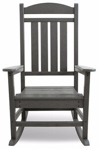 POLY-WOOD R100GY Presidential Rocker, Slate Grey Cambridge Kitchener Area image 5