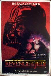 Star Wars 27x40 Return (Revenge) Of The Jedi Movie Poster 1983