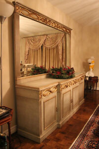 Elegant Handcrafted Imported Buffet with Mirror