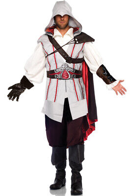 Brand New Master Assassin's Creed Ezio Video Game Outfit Adult Halloween Costume