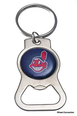 Bottle Opener Key Ring - Cleveland Indians MLB Official Lic Baseball Beer etc