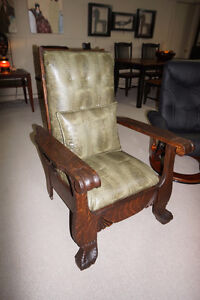 ....ANTIQUE Morris styled chair.....