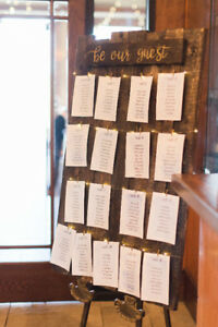 "Handmade Wedding Seating Chart Sign - ""Be Our Guest"""