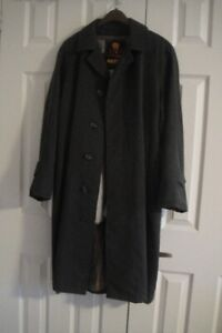 Men's Royal Robertson OVERCOAT grey Mid Long Trench Coat size M