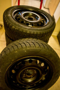 SOLD-185-60-R15 Winter Tires on Ford Rim (set of 4) $250