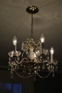 Antique lighting; sconces and chandeliers