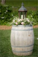 Blooms is now renting oak barrels, lanterns, crates ect
