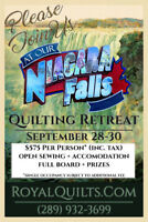 Quilting Retreat in Niagara Falls ~ Reserve Now :)
