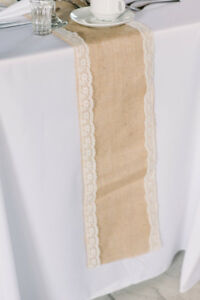 Table Runners- Burlap with lace