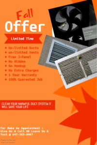 Air Duct, Vents, Furnace Cleaning