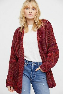 Free People Cozy Knit Cardi Sweater Size XS/ Small S  $198 NWT NEW