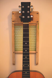 Vintage Washboard as a Guitar Wall Mount
