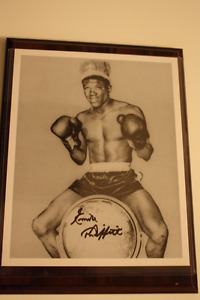 Emile Griffith signed 8 by 10 picture frame