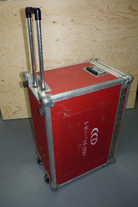 Road Case with Wheels and Retractable Handle