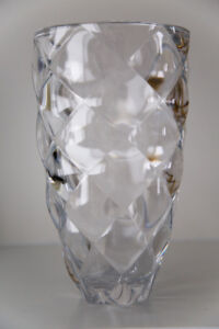 Clear Glass Decorative Vase