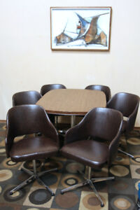 "CHROMECRAFT! MID CENTURY ""MAD MEN"" Dining Chairs SEE VIDEO"