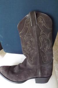 Botte Western Frye cuir/suede brun / homme Prix reduit * 30$ *