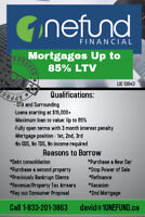 2nd mortgages to 85% Loan to value in rural ontario