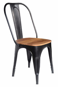 RESTAURANT INDUSTRIAL TOLIX STYLE WOODEN SEAT DINING CHAIR