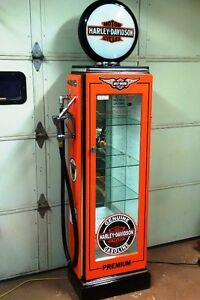 Kustom Made H. D. Display Cabinet, Gas Pump Petro