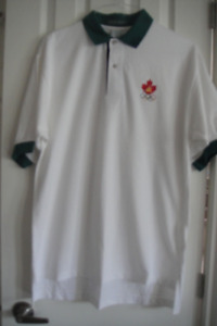 New OLYMPIC T SHIRT MENS POLO SHIRT SHORT SLEEVE size L