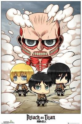 Attack on Titan : Chibi Group - Maxi Poster 61cm x 91.5cm new and sealed