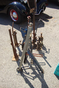 Collection of Old Car and Truck Jacks