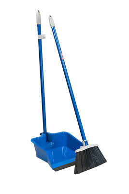 Quickie  Plastic  Stand-Up Long Handled  Dustpan and Brush S