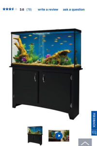 60 Gal heart Led tank with stand / storage