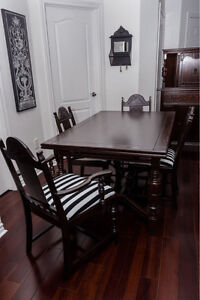 ANTIQUE DINING SET 10 PC SOLID WOOD RESTORED