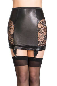 Garter Lingerie sexy goth Skirt Corset Medium Small