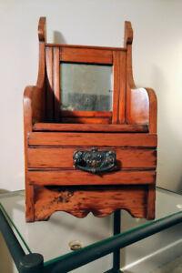 Unique pine box with mirror