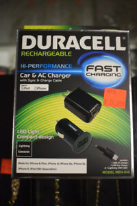 Duracell Rechargeable HI-Performance Car and AC Charger