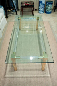 Beveled Glass Top