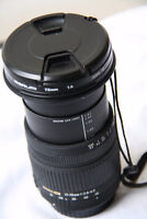 mint SIGMA 17-70mm2.8-4.5 DC lens for canon.