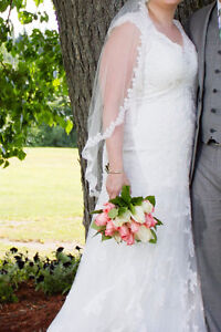 Maggie Sottero Wedding Dress and Veil