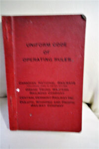 """1952 CANADIAN NATIONAL RAILWAY """"UNIFORM CODE OF OPERATING RULES"""
