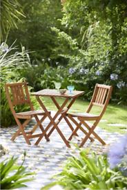 Deluxe Acacia Wooden 2 Seater Garden Bistro/patio/ conserverty set