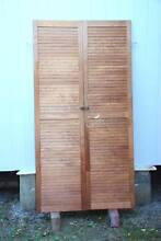 Two Matching Pine Louvre  Doors for Wardrobe or Storage Cupboard The Junction Newcastle Area Preview
