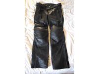 "Held Ameno Leather Motorbike Trousers Pants Size M/L Waist 36"""