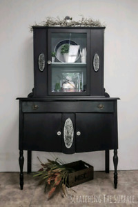 Lovely Licorice Antique Cabinet