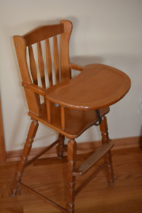 Solid Maple Vintage Child's High Chair