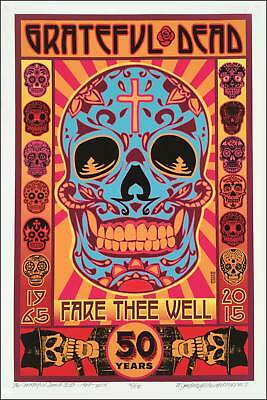 Grateful Dead Poster 1965-2015 50th Fare Thee Well Ltd Edition SN 100 David Byrd