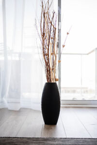 [URGENT!] Beautiful Black Vase and Wooden Sticks