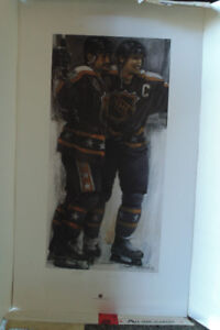 Wayne Gretzky & Paul Coffey Signed   limited edition lithograph.